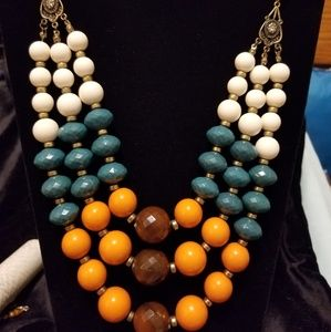 Fall colored necklace
